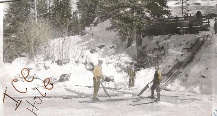 Ice Hole harvest, Yellow Pine ID, c.1935