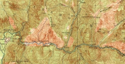 Maps of the Yellow Pine, Idaho area